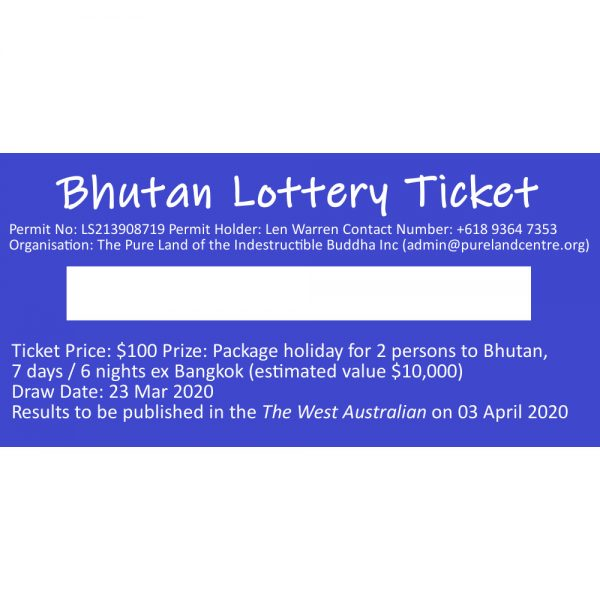 Bhutan Lottery Ticket